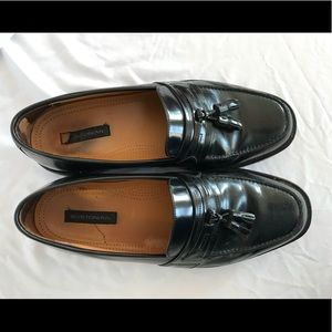 Black Bostonian First Flex Leather Loafers 10W